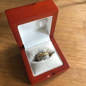TOVA Diamonique Elephant Ring